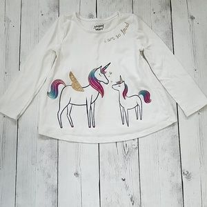 4T Unicorn Flowy Long sleeved top